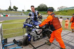 #21 Yamaha: Pol Espargaro involved in a crash