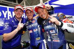 Ganadores de la pole Katsuyuki Nakasuga, Pol Espargaro, Bradley Smith