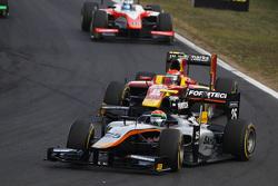 Sergio Canamasas, Hilmer Motorsport leads Alexander Rossi, Racing Engineering