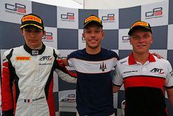 Yarış galibi Luca Ghiotto, Trident ile ikinci Esteban Ocon, ART Grand Prix ve üçüncü Marvin Kirchhof