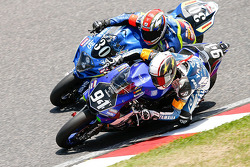 #94 Yamaha: David Checa, Kenny Foray, Mathieu Gines and #30 Suzuki: Vincent Philippe, Anthony Delhalle, Etienne Masson