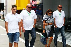 The family of Jules Bianchi in the paddock,: Tom, Philippe and Christine Bianchi - brother, father and mother