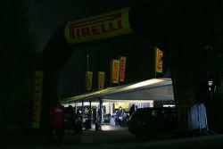 Pirelli tires tent