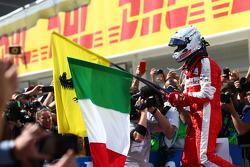 Winner Sebastian Vettel, Ferrari