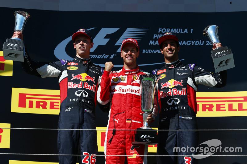 2015: 1. Sebastian Vettel, 2. Daniil Kvyat, 3. Daniel Ricciardo