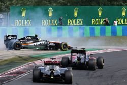 Sergio Pérez, Sahara Force India y Pastor Maldonado, Lotus F1 Team