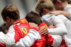 Schweigeminute für Jules Bianchi: Sebastian Vettel, Scuderia Ferrari