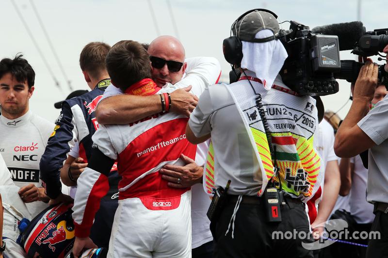 Los pilotos de F1 y la familia de Bianchi fueron uno