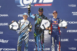 Podium: winner Ken Block, second place Scott Speed, third place Sebastian Eriksson