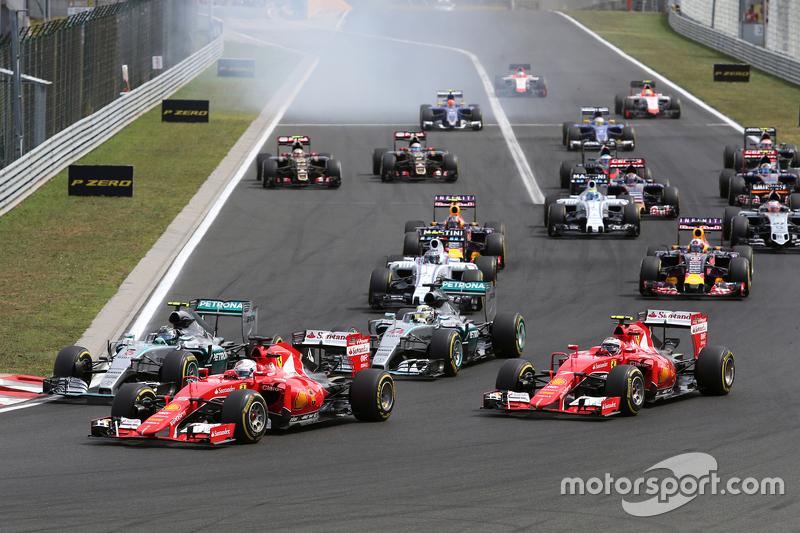 Yarışın startı, Sebastian Vettel, Scuderia Ferrari