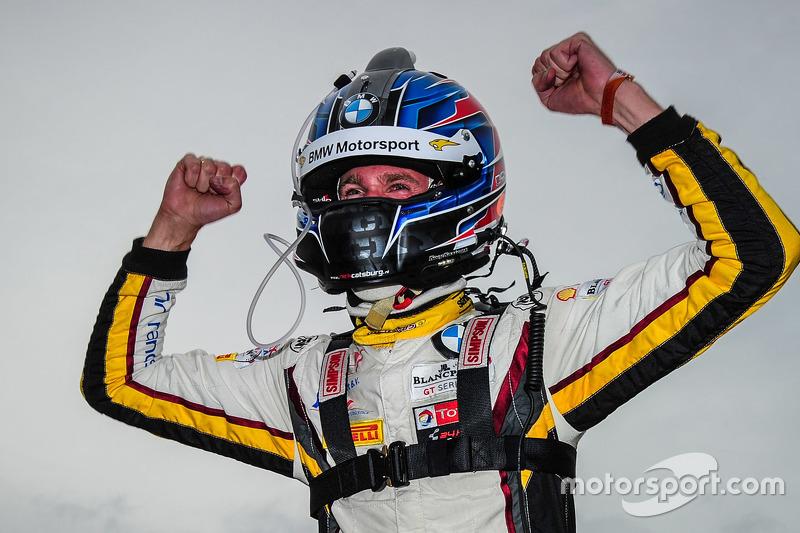 El ganador, Nicky Catsburg, celebra