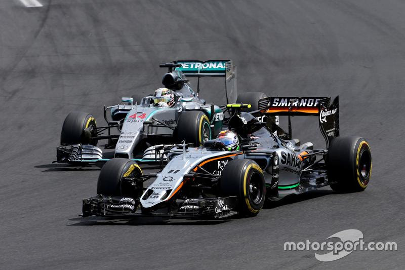 …а еще через три круга справился и с Серхио Пересом из Force India
