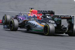 Daniel Ricciardo, Red Bull Racing dan Nico Hulkenberg, Sahara Force India