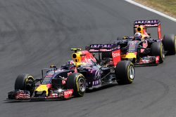 Daniil Kvyat, Red Bull Racing and Daniel Ricciardo, Red Bull Racing