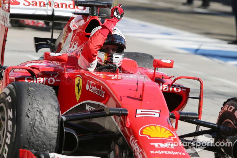 Vettel ganó cuatro títulos con Red Bull pero solo se impuso en Hungría con Ferrari, en 2015.