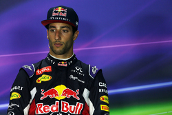Daniel Ricciardo, Red Bull Racing in de FIA persconferentie