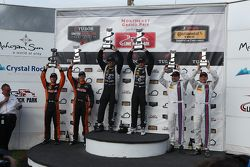 PC podium: Race winners #52 PR1 Mathiasen Motorsports Oreca FLM09: Mike Guasch, Tom Kimber-Smith, pe