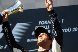 Daniel Ricciardo, Red Bull Racing, celebra...
