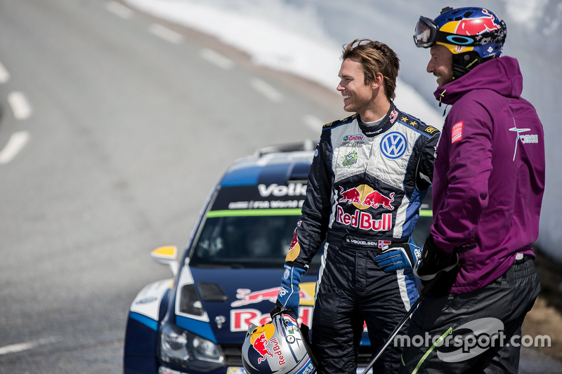 Andreas Mikkelsen, Volkswagen Motorsport and Aksel Lund Svindal