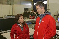 Lena Gade ve André Lotterer, Audi Sport - Takım: Joest