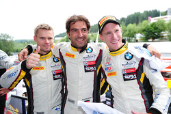 Race winners Markus Palttala, Nicky Catsburg, Lucas Luhr, Marc VDS Racing Team