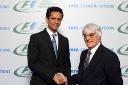 Vinod Kumar, MD & CEO, Tata Communications and Bernie Ecclestone