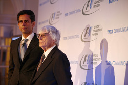 Vinod Kumar, Geschäftsführer Tata Communications; Bernie Ecclestone