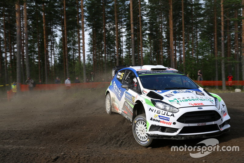 Juho Hanninen and Tomi Tuominen, Ford Fiesta WRC
