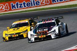 Timo Glock, BMW Team MTEK BMW M4 DTM dan Marco Wittmann, BMW Team RMG BMW M4 DTM