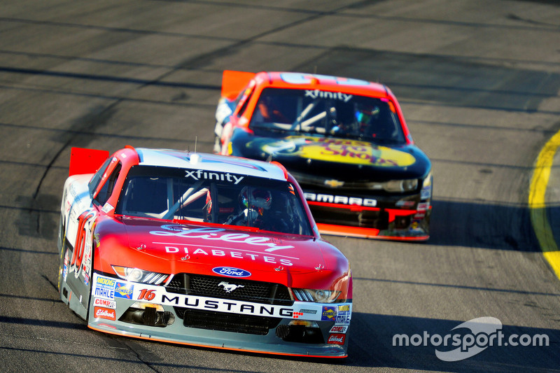Ryan Reed, Roush Fenway Racing Ford and Ty Dillon, Richard Childress Racing Chevrolet