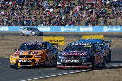 Craig Lowndes, Triple Eight Race Engineering Holden and Shane van Gisbergen, Tekno Autosports Holden