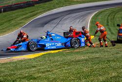 Tony Kanaan, Chip Ganassi Racing Chevrolet com problemas