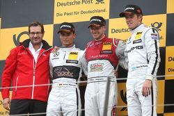 Podio: vincitore Miguel Molina, Audi Sport Team Abt, secondo posto Pascal Wehrlein, HWA AG Mercedes, terzo posto Paul di Resta, HWA AG Mercedes