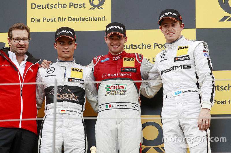 Podium: winner Miguel Molina, Audi Sport Team Abt, second place Pascal Wehrlein, HWA AG Mercedes, th