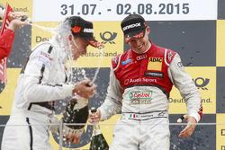 Il secondo classificato Pascal Wehrlein, HWA AG Mercedes e il vincitore della gara Miguel Molina, Au