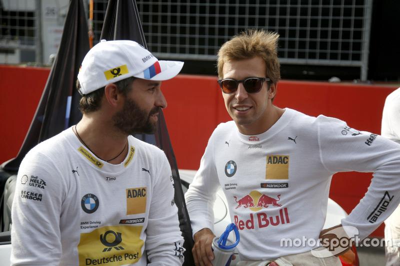 Timo Glock, BMW Team MTEK BMW M4 DTM and António Félix da Costa, BMW Team MTEK, BMW M4 DTM
