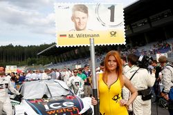 Gridgirl of Marco Wittmann, BMW Team RMG BMW M4 DTM