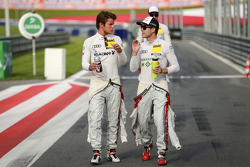Adrien Tambay, Audi Sport Team Abt Audi RS 5 DTM and Mike Rockenfeller, Audi Sport Team Phoenix Audi RS 5 DTM