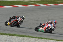 Michael van der Mark, Pata Honda; Leon Haslam, Aprilia Racing Team