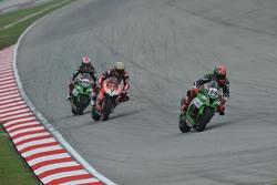 Tom Sykes, Kawasaki, Chaz Davies, Ducati Team et Jonathan Rea, Kawasaki