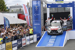 Third place Mads Ostberg and Jonas Andersson, Citroën DS3 WRC, Citroën World Rally Team