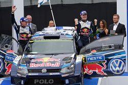 Winnaars Jari-Matti Latvala en Miikka Anttila, Volkswagen Polo WRC, Volkswagen Motorsport