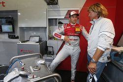 Timo Scheider, Audi Sport Team Phoenix Audi RS 5 DTM and Hansi Hinterseer