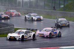 Martin Tomczyk, BMW Team Schnitzer BMW M4 DTM leads Lucas Auer, ART Grand Prix Mercedes-AMG C63 DTM