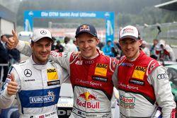 Ganador de la Carrera: Mattias Ekström, Audi Sport Team Abt Sportsline, Audi A5 DTM, el segundo luga