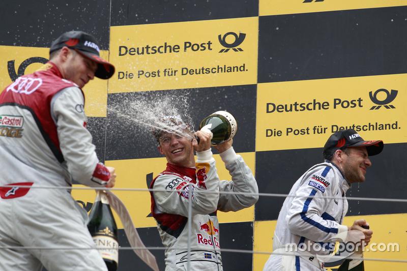 Race winner: Mattias Ekström, Audi Sport Team Abt Sportsline, Audi A5 DTM, second place Gary Paffett, ART Grand Prix Mercedes-AMG C63 DTM, third place Edoardo Mortara, Audi Sport Team Abt Audi RS 5 DTM