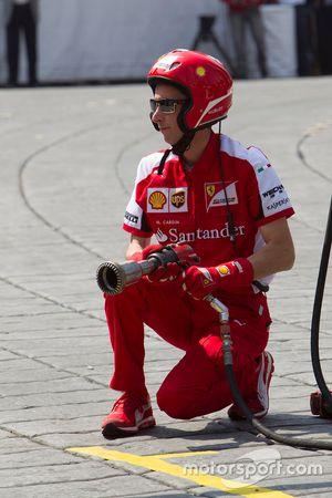 Miembro del equipo de pits de Ferrari