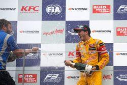 Yarış galibi Antonio Giovinazzi, Jagonya Ayam ile Carlin Dallara Volkswagen