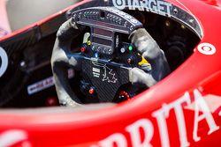 Detail view of the cockpit of Scott Dixon, Chip Ganassi Racing Chevrolet