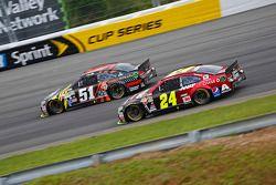Justin Allgaier, HScott Motorsports Chevrolet y Jeff Gordon, Hendrick Motorsports Chevrolet